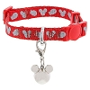 Disney Tails Cat Collar - Reflective Mickey Icon and Fish - Red