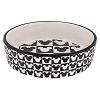 Disney Pet Tails Bowl - Black and White Mickey Icon - Medium