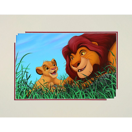 Disney Print - Alex Maher - Father and Son - Simba and Mufasa