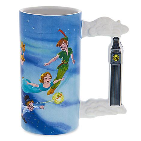 Disney Mug Cup Peter Pan Never Land Tall Mug