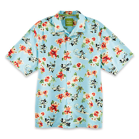 0a74d6e5 Disney ADULT Shirt - Tommy Bahama - Mickey Mouse Woven Floral ...