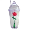 Disney Drink Tumbler Cup - Light Up Beauty and the Beast Rose