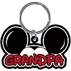Disney Keychain - Mickey Ears Fan - Grandpa