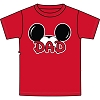 Disney Adult Shirt - Mickey Ears Red - Dad