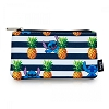 Disney Coin/Cosmetic Bag - Stitch Stripes & Pineapples Print