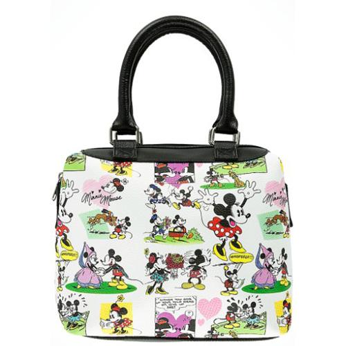 Disney Handbag Mickey Minnie Comic Barrel Bag