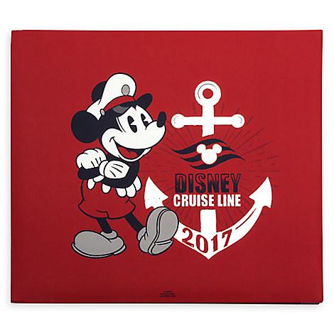 Disney Photo Scrapbook Album Disney Cruise Line 2017 Red