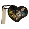 Disney Leather Keychain Luggage Tag - Star Wars Droids R2-D2 C-3PO BB8