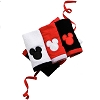 Disney Wash Cloth Set - Mickey Mouse Icons, red white and black.