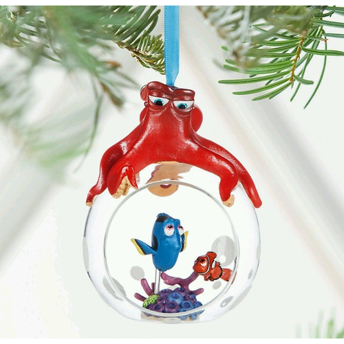 - Disney Sketchbook Ornament - Finding Dory - Hank, Dory, And Nemo