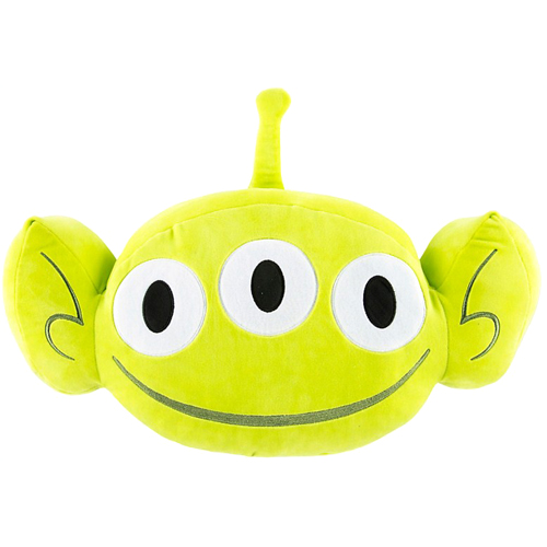 Disney Plush Emoji Pillow - Toy Story Green Alien - Large