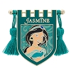 Disney Pin - Princess Jasmine Crest Banner with Tassels