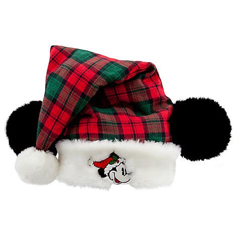 4cca297dd543f Disney Santa Christmas Holiday Hat - Mickey Mouse Wilderness Plaid