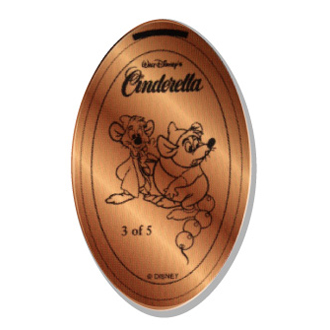 Disney Pressed Penny - Disney's Cinderella - Gus and Jaq