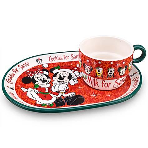 Holiday Plate Disney Set Santa And Mickey Cookie Mug Minnie cjq54R3LSA