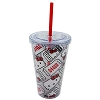 Universal Tumbler with Straw - Hello Kitty Movie Ticket Stubs