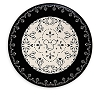 Disney Dinner Plate - Gourmet Mickey Black and Cream 11''