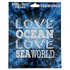 SeaWorld Car Decal - Love the Ocean Glitter