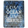 SeaWorld Door Sign - Love the Ocean Glitter