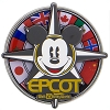 Disney Magnet - Epcot Mickey Flags Spinner