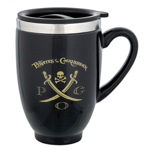 Disney Ceramic Travel Mug Pirates Of The Caribbean Logo