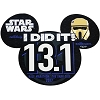 Disney Car Bumper Magnet - Star Wars Half Marathon 2017 I Did It 13.1