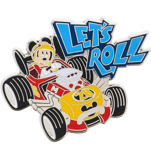 Disney Pin - Mickey Roadster Let's Roll