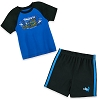 Disney Short Set for Boys - Sunglasses Stitch - Blue and Black