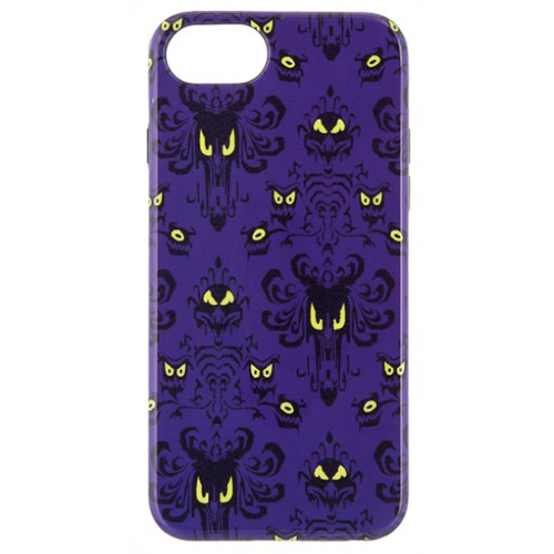 Disney iPhone 7/6 Case - The Haunted Mansion Wallpaper - Purple