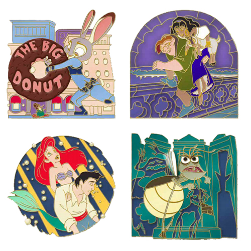 Disney 4 Pin Set - Love Is An Adventure - Love Is Strength