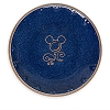 Disney Dinner Plate - Mickey Icon - Blue and Tan