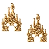Disney Rebecca Hook Earrings - Mickey Castle - Gold