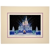 Disney Artist Print - Larry Dotson - Winter Wonderland at the Magic Kingdom - White 11x14