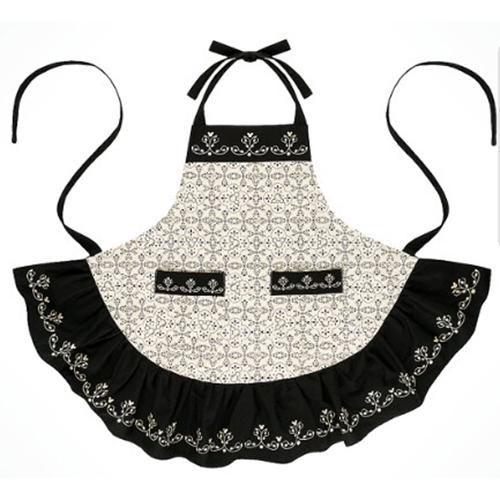 disney kitchen apron mickey mouse icon black and cream - Kitchen Apron