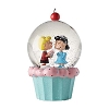Dept. 56 Snowglobe - Peanuts - Schroeder and Lucy Cupcake