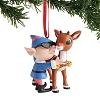 Rudolph Traditions by Jim Shore - Rudolph and Elf Ornament