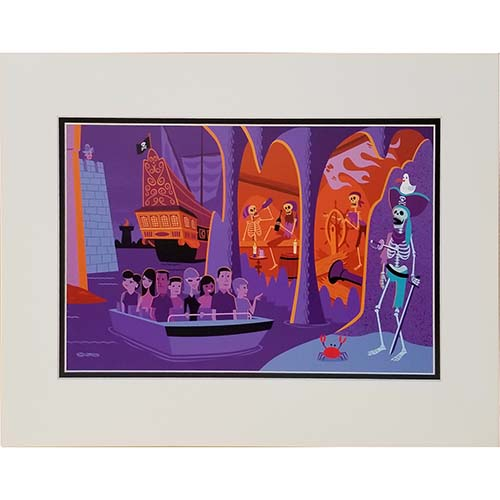 Disney Deluxe Artist Print - Scoundrels and Skeletons Part II by Shag