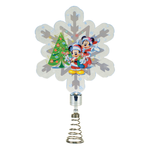 Mickey Christmas Tree Topper: Mickey And Minnie Snowflake