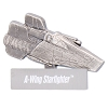 Disney Star Wars Vehicles Pin - #8 A-Wing Starfighter