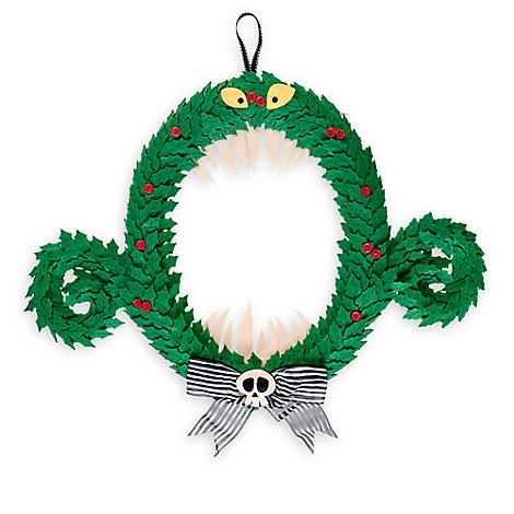 disney christmas wreath nightmare before christmas monster. Black Bedroom Furniture Sets. Home Design Ideas