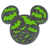 Disney Halloween Pin - Mickey Icon with Bats