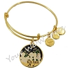 Disney Alex and Ani Bracelet - Haunted Mansion Singing Busts - Gold