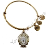 Disney Alex and Ani Bracelet - Haunted Mansion Madame Leota - Gold