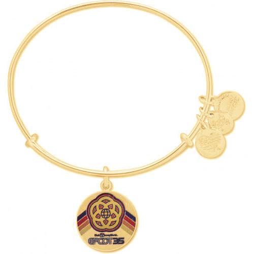 Disney Alex and Ani Bracelet - Epcot 35th Anniversary - Gold