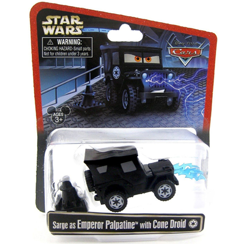 Disney Racers - Star Wars - Sarge as Emperor Palpatine with Cone Droid