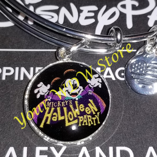 Disney Alex and Ani Bracelet - Mickeys Not So Scary Halloween Party - Silver