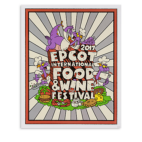 Disney Poster - 2017 Epcot Food & Wine Festival - Chef Figment
