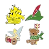 Disney 4 Pin Set - Peter Pan Icons - Ship Tinker Belle Hat Bear