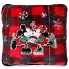 Disney Throw Pillow - Christmas Holiday Plaid - Mickey and Minnie