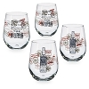 Disney Stemless Wine Glass Set - 2017 Epcot Food and Wine Festival